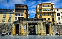 Street scene in Donostia-San Sebastian, Cantabria, Spain.
