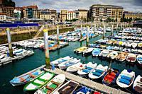 Marina at San Sebastian, Cantabria, Spain.