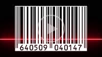 Reading a bar code with red beam