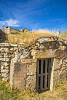 Wine cellar. Moradillo de Roa, Burgos province, Castilla Leon, Spain.