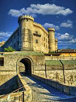 entrance to Castello Odescalchi, Bracciano, Lazio Region, Italy.