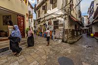 Travel to Zanzibar. Corner art gallery.