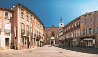 Perpignan, France. Leon Gambetta Square And Cathedral Basilica Of Saint John The Baptist Of Perpignan In Sunny Summer Day.