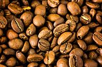 Close-up of natural coffee beans.