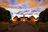 Stockholm, Sweden Ulriksdals Slott at dawn.
