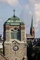 Stockholm, Sweden St Stephen's Church or. Stefanskyrkan and the Johannes Church in background.