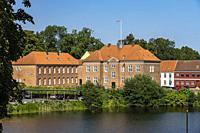 Am Burggraben von Nyborg, Dänemark, Europa | castle moat in Nyborg, Denmark, Europe.