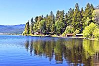 Upper Klamath Lake at Rocky Point in Southern Oregon.