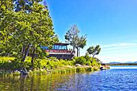 The lodge at Rocky Point on Upper Klamath Lake in Southern Oregon.