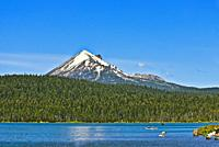 Mount McLoughlin beyond Lake of the Woods in Southern Oregon.