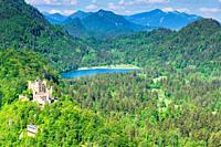 Schloss Hohenschwangau, Romantische Strasse, Ostallgäu, Bayern, Deutschland, Europa