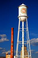 Remnants of the tobacco industry still dominate the skyline of Durham, North Carolina.