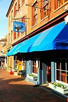 A vintage pub stands in the historic center of Newburyport Massachusetts.