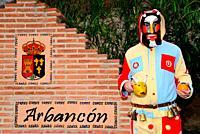 Botarga. Traditional mask of Arbancon, Guadalajara, Spain