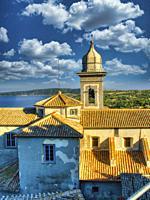 Lake Bracciao viewed from Bracciano Castle, Lazio Region, Italy.