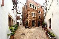 old town of Tossa de Mar, Girona province, Catalonia, Spain.