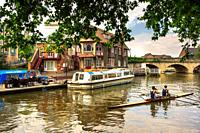 River Thames in Oxford, England.