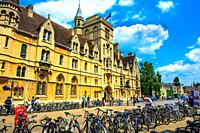University buildings in Broad Street, Oxford, England.
