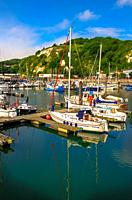 Yachting marina in Dover, Kent, England.