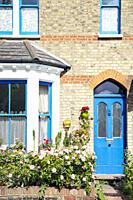 Blue Door Cottage Facade.
