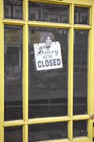 Sorry We're closed Sign in Shop Doorway.