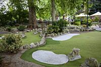 Putt in the Park in Battersea Park, London UK.