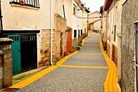 Pedestrian street of Arbancon, Guadalajara, Spain.
