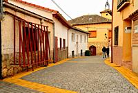 Pedestrian street of Arbancon, Guadalajara, Spain