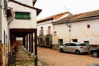 Square of Arbancon village, Guadalajara, Spain