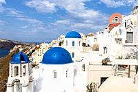 Housing construction. Santorini Greece.