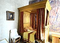 Interior view in Kalmar castle, The Agda Chamber, Kalmar, Småland county, Sweden, Scandinavia. The room for Duke Erik's favourite mistress Agda Persdo...