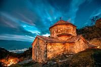 Mtskheta, Georgia. Shio-mgvime Monastery. Church Of Holy Virgin Or Theotokos In Medieval Monastic Shiomgvime Complex In Limestone Canyon Under Autumn ...