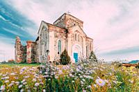 Begoml, Vitsebsk Region, Belarus. Old Ruins Of All Saints Church. Ruins Of Old Cultural And Architectural Monument.