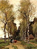Bock Theophile Emile Achille De - Landweg - Dutch School - 19th Century.