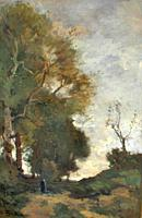 Bock Theophile Emile Achille De - Wandelaar - Dutch School - 19th Century.