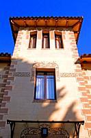 Windows of the modernist house, Sant Cugat del Vallès, Catalonia, Spain