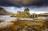 Dawn at Eilean Donan Castle, Scotland.