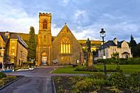 Bronze statue, Donald Cameron de Lochiel, Clan Cameron, Duncansburgh MacIntosh Parish Church, The Parade, Town Park, Fort William, Lochaber, Scottish ...
