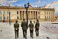 Capitolio Nacional, Plaza de Bolivar, Bogota, Cundinamarca, Colombia