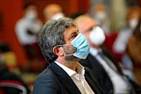 "Roberto Fico, President of the Chamber of Deputies( Presidente della Camera dei Deputati) in Naples during the conference """"IL CAPITALE NATURALE"""". In..."
