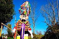 Vellarron. Traditional mask of Rios and Marcelin, Orense, Spain