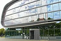 Extension building to the German National Library, formerly the German Library, in book form, Leipzig, Saxony, Germany.