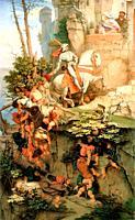 Schwind Moritz Von - the Ride of Kuno of Falkenstein - Austrian School - 19th Century.