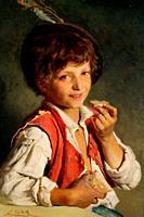 Simm Franz Xaver - Brotzeit - Austrian School - 19th Century.