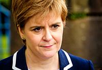 Portrait of Nicola Sturgeon, MSP First Minister of Scotland and leader of the Scottish National Party.