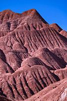 Eroded landscape in the Desierto del Diablo in the Los Colorados area, in the town of Tolar Grande in the province of Salta in La Puna Argentina. Arge...