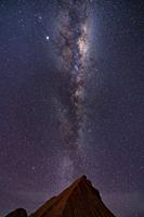 Stars and Milky Way in the Devil's Desert in the Los Colorados area, in the town of Tolar Grande in the province of Salta in La Puna Argentina. Argent...