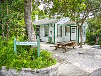 Point Cottage also known as Berthaâ. . s Cottage at Historic Spanish Point in Osprey Florida in the United sTates.