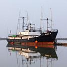 American fishing vessel Vicki K docked in Steveston British Columbia Canada.