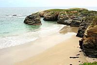 Praia das Illas (Islands beach). Ribadeo, Lugo province, Galicia, Spain.